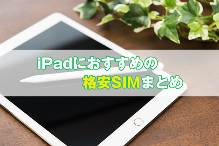 iPadにおすすめの格安SIMまとめ|データSIMでお得に運用【MVNO比較】