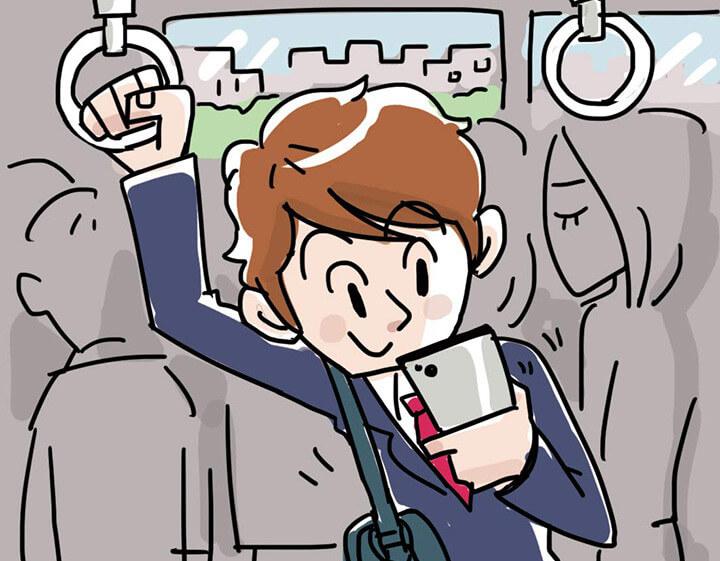 電車の中でも動画が観れる